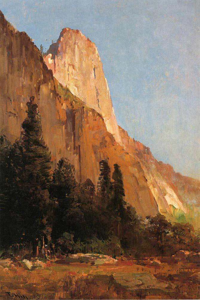 Thomas Hill Sentinel Kayalığı Yosemite