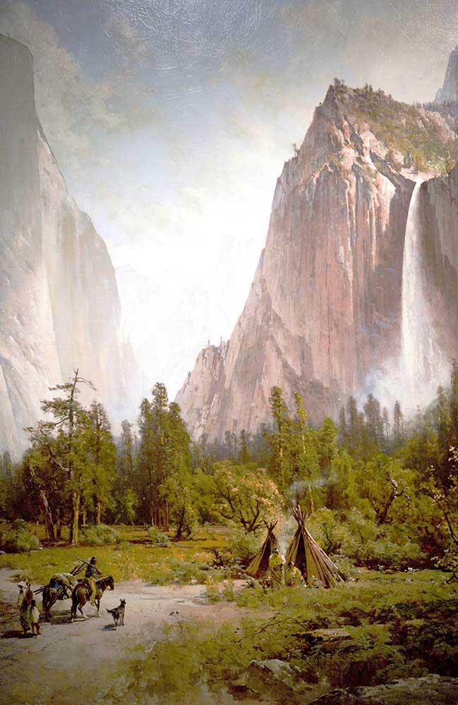 Thomas Hill Yosemite Vadisinde Şelale