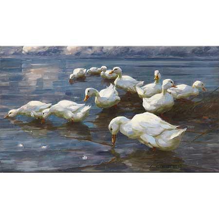 Alexander Koester Sazlıktaki Ördekler