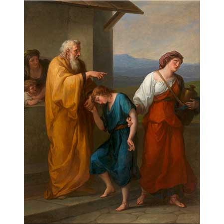 Angelica Kauffman İbrahim Hacer ve İsmail'i Çöle Gönderirken
