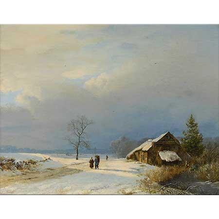 Barend Cornelis Koekkoek Gooi'de Kış