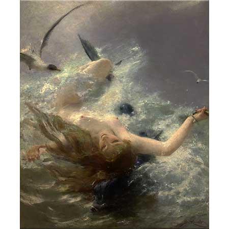 Benes Knüpfer Su Perisi ve Yunus Balığı