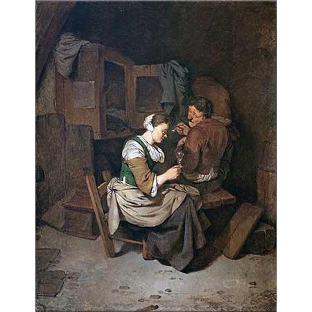 Cornelis Bega Şarap Kadehi ile Kadın