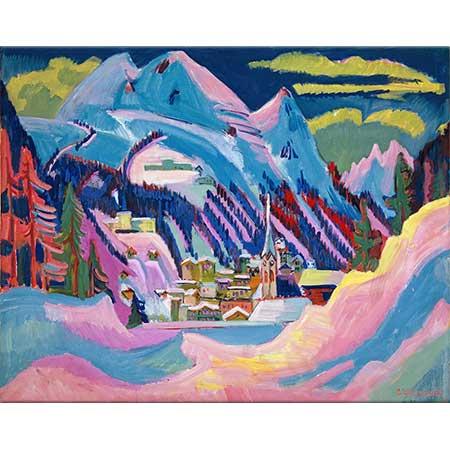 Ernst Ludwig Kirchner Davos'ta Kış