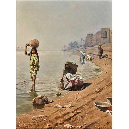 Franz Xaver Kosler Su Taşıyanlar Nil Kıyısı
