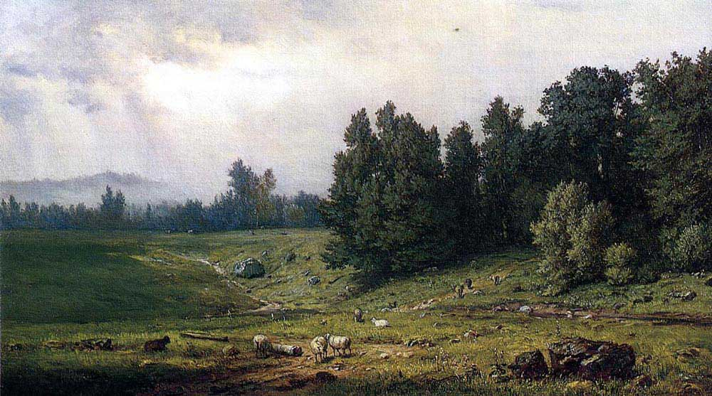 George Inness Koyunlarla Manzara