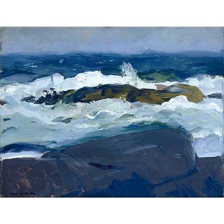 George Wesley Bellows Sahildeki Kayalıklar