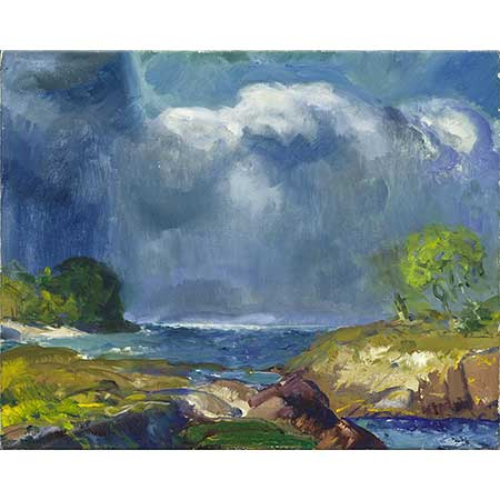 George Wesley Bellows Yaklaşan Fırtına Manzarası