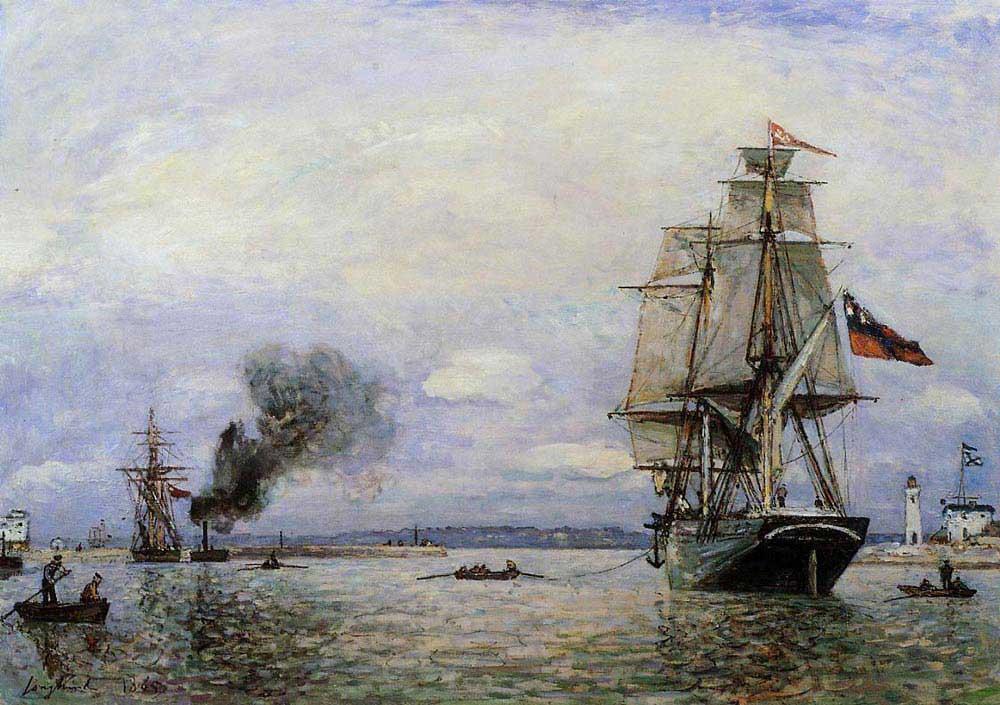 Johan Barthold Jongkind Honfleur Limanından Ayrılış