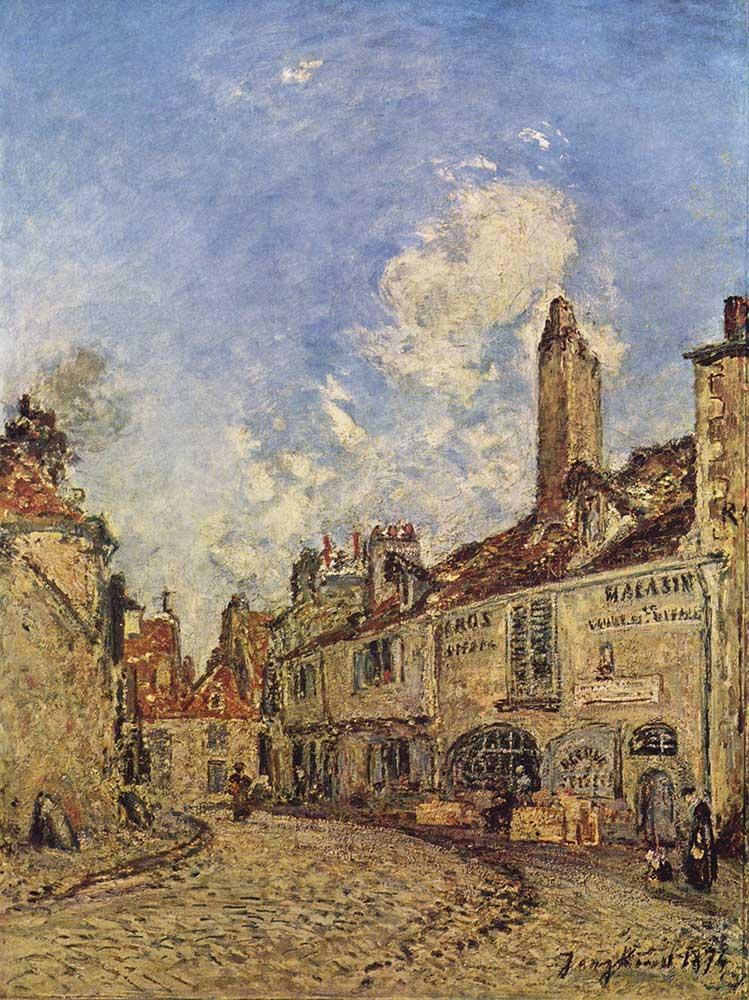 Johan Barthold Jongkind Nevers'te Sokak