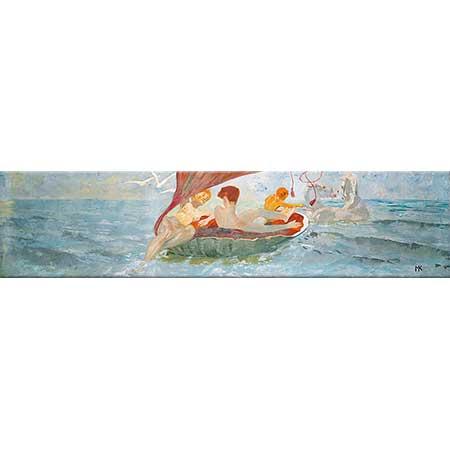 Max Klinger Deniz Kabuğunda Yolculuk Yapan Nereidler