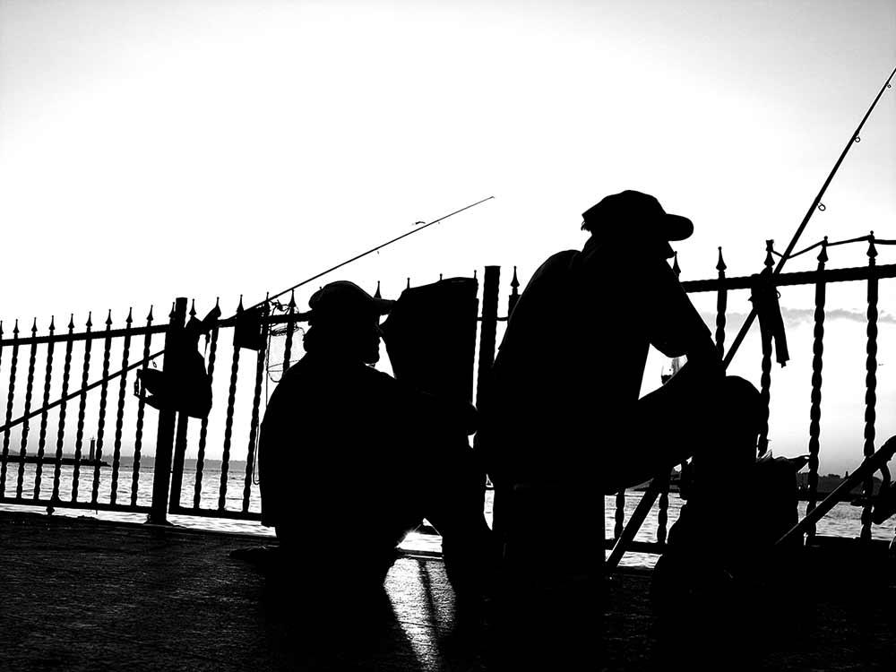 Sabahattin Kayış Galata Köprüsünde Balıkçılar